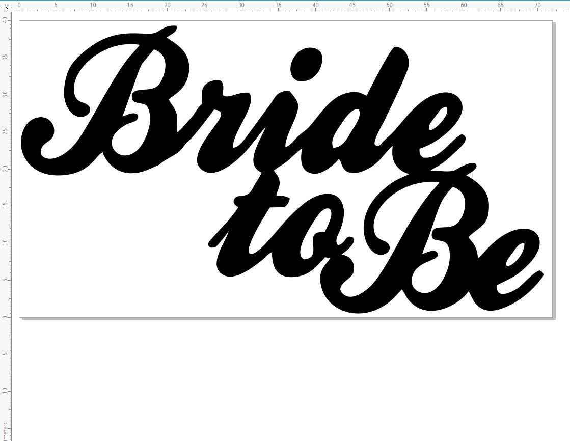 bride to be 87 x 40mm pack of 3